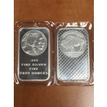 SILVER BAR 5 OZ BUFFALO