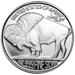Silver Rounds Buffalo - Sunshine  - 1 Troy Ounce 999 Fine Silver  (500) oz minimum