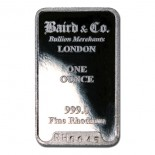 Baird 1 oz Rhodium Bar